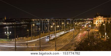 The Danube and the traffic, in Budapest