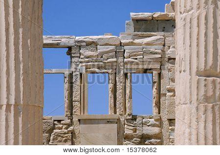 Deatail Of Propylaea Gateway To Acropolis