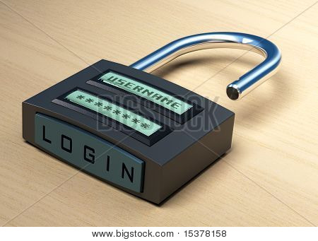 Login, username and password