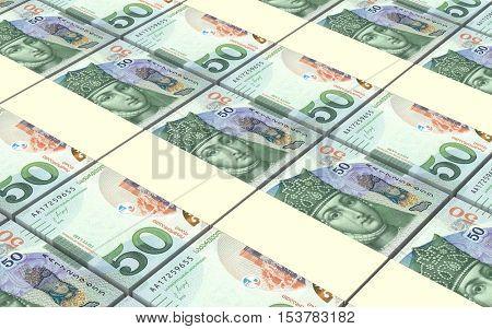 Georgian lari bills stacks background. 3D illustration.