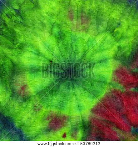 Tie dye pattern abstract background. Bright green and fuchsia