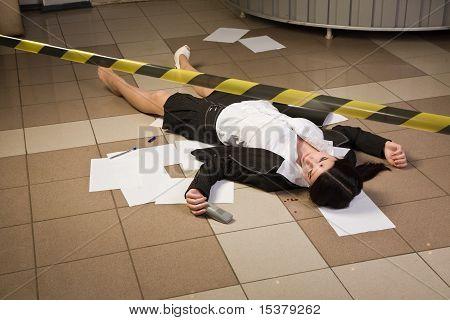 Crime Scene In A Office