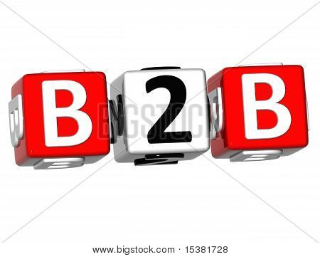 Business To Business Cube Word