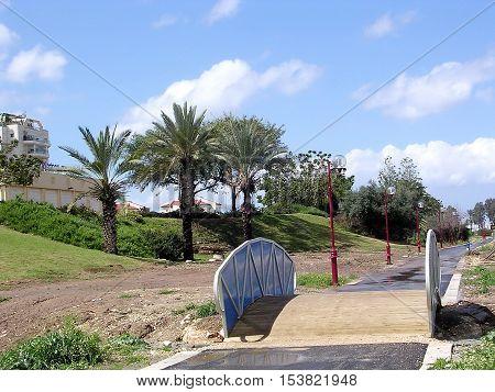 Or Yehuda Israel - March 11 2005: Bridge.