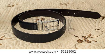 Elegant leather belt for men, (groom s leather belt )