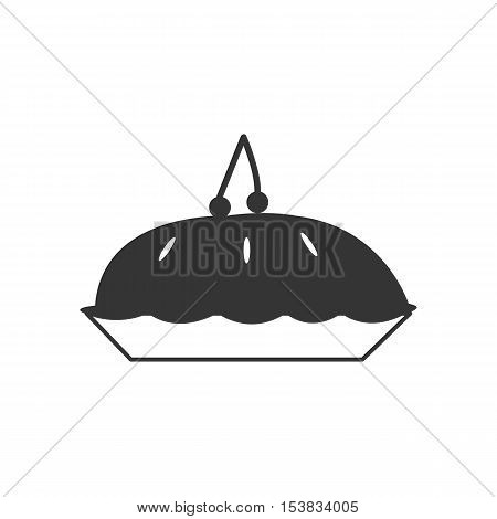 cherry pie,Vector icon of hot pie with steam,Vector icon of hot pie with steam