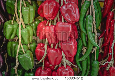 Fresh sweet pepper healthy, ingredient isolated close up