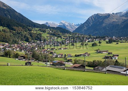 Beautiful Tourist Resort Klosters, Praettigau Switzerland