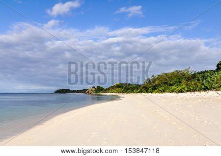 Pristine Beach On Mana Island, Fiji