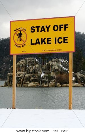 Lake Warning Sign