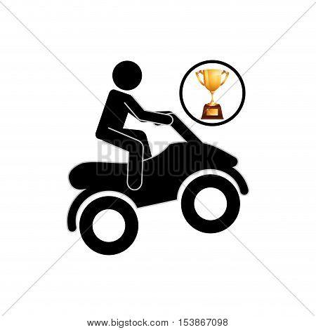extreme sport avatar quad bike design vector illustration eps 10