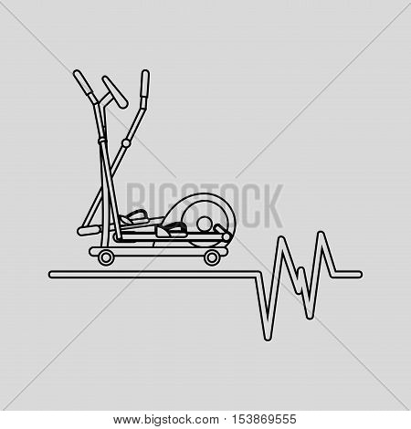 elliptical machine gym sport icon design vector illustration eps 10