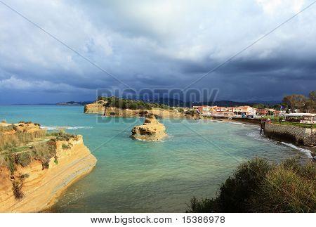 Eroding Sandstone At Sidari, Corfu