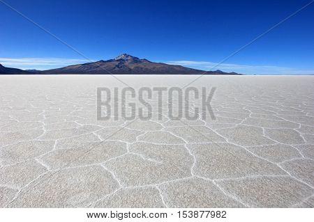 Salar de Uyuni, salt lake, is largest salt flat in the world, altiplano, Bolivia, South America