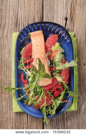 Roasted Salmon And Salad