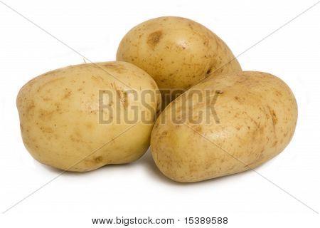 Baking Potatoes Isolated On White