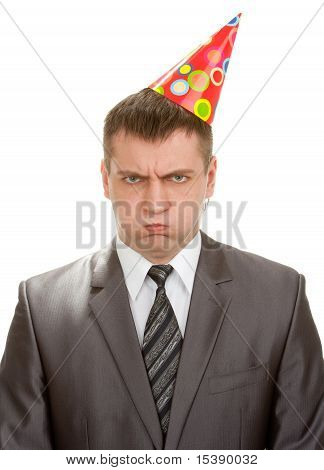 Sad Birthday Businessman In Hat