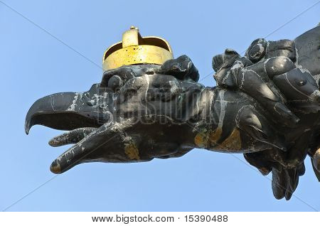 Head Of The Turul Statue Of Tatabanya