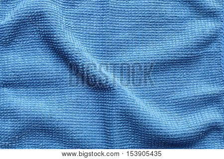 Texture of abstract blue microfiber textile background