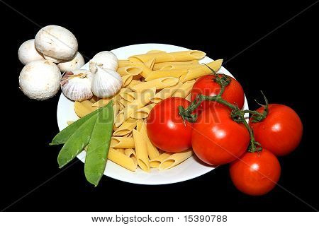 Pasta Tomato Garlic And Pea