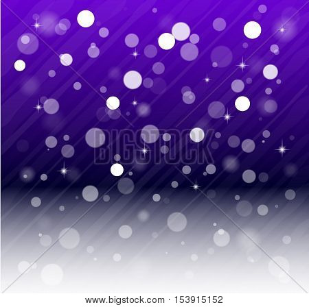 Whte snow bokeh blue background. Vector EPS10