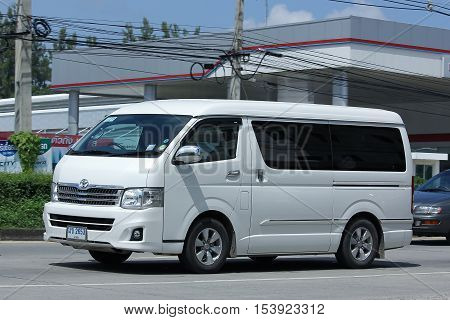 CHIANGMAI THAILAND - OCTOBER 8 2016: Private Toyota Ventury van. On road no.1001 8 km from Chiangmai Business Area.