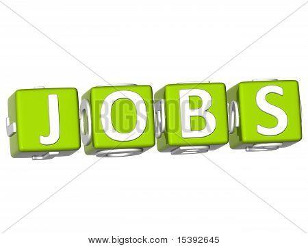 Jobs Cube Text