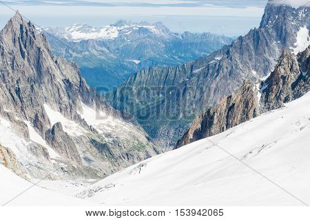 a view of mont blanc coumayeur italy