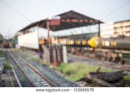 blurred of depot train station abstract background