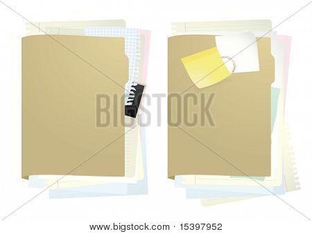 Documents folder #1. Vector illustration.