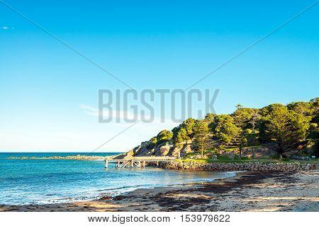Port Elliot beach view at Horseshoe Bay South Australia