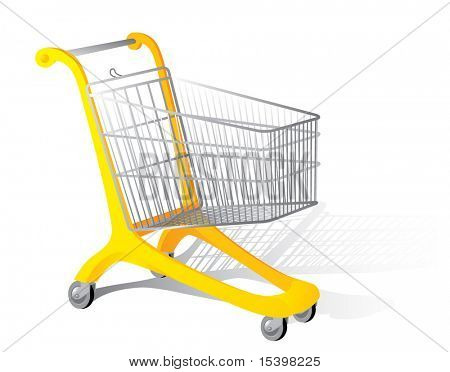 Supermarket cart. Vector illustration.