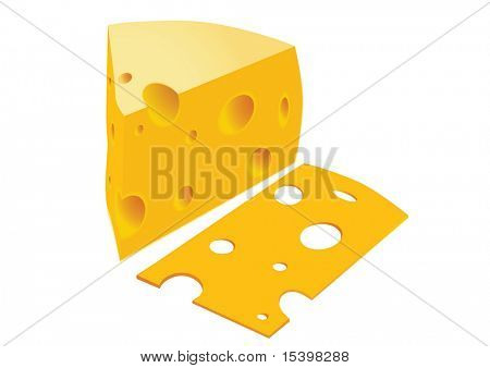Cheese. Vector illustration