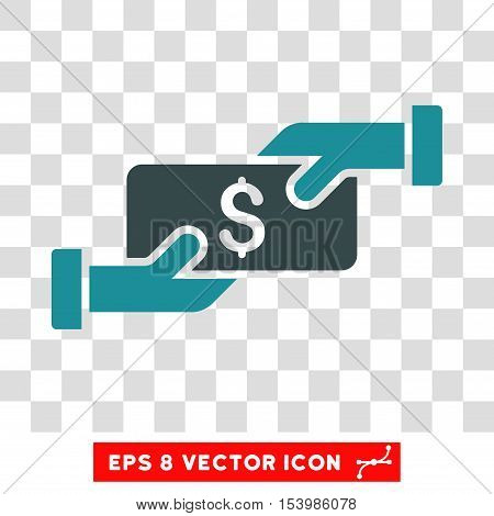 Payment vector icon. Image style is a flat soft blue icon symbol.