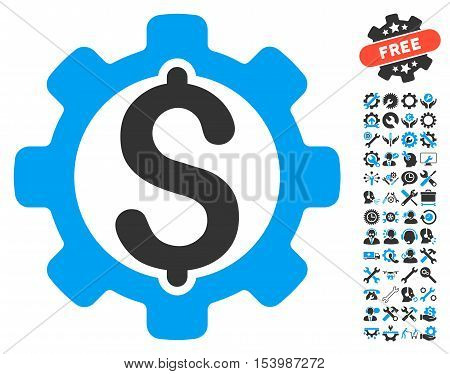 Payment Options pictograph with bonus tools pictograph collection. Glyph illustration style is flat iconic bicolor symbols blue and gray colors white background.