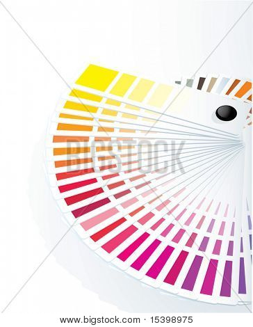 Color guide to match colors for print. Vector.