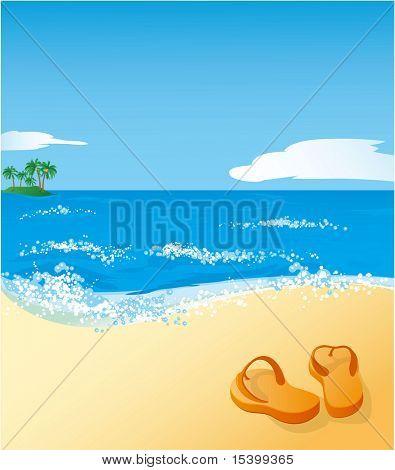 Playa. Vector.