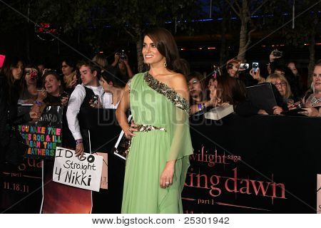"LOS ANGELES - NOV 14:  Nikki Reed arrives at the ""Twilight: Breaking Dawn Part 1"" World Premiere at Nokia Theater at LA LIve on November 14, 2011 in Los Angeles, CA"