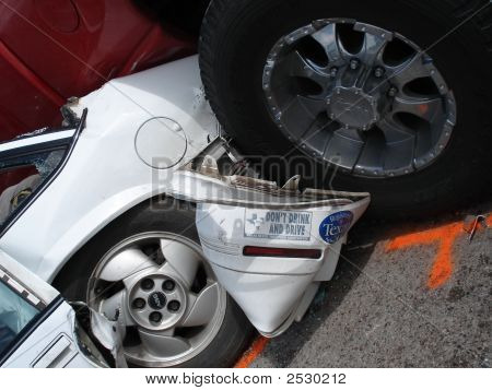 An accident involving a drunk driver.