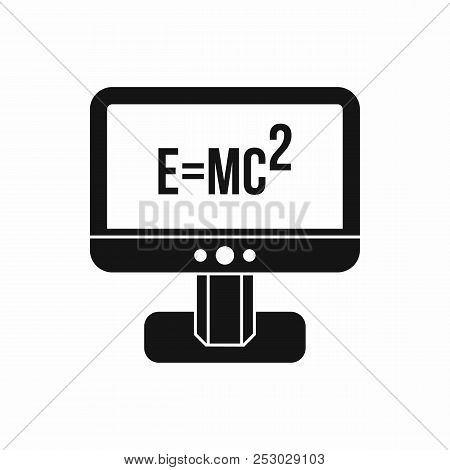 Monitor With Einstein Formula Icon