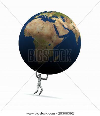 Man Lifting Earth (europe)