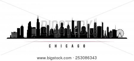Chicago City Skyline Horizontal Banner