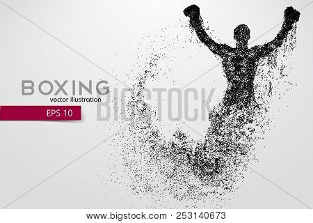 Boxing Silhouette Background And Text