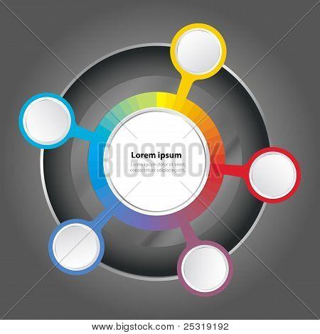 Vektor Diagrammhintergrund Farbe Spektrum