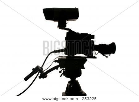 Studio Video Camera Silhouette
