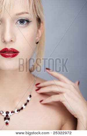 Blonde In Necklace