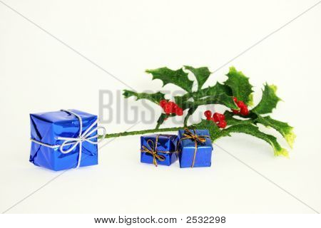 Holly And Christmas Decoration
