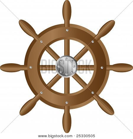 Ship steering wheel