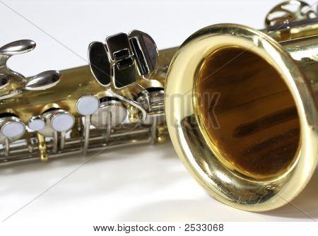 Close Up Shot Of Saxophone