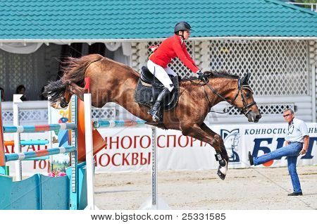 Rider With A Jump Horse